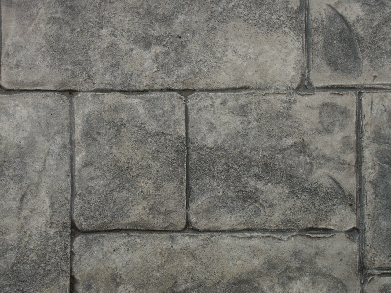 Closeup photo of an Ashlar Cut Stone concrete stamp.