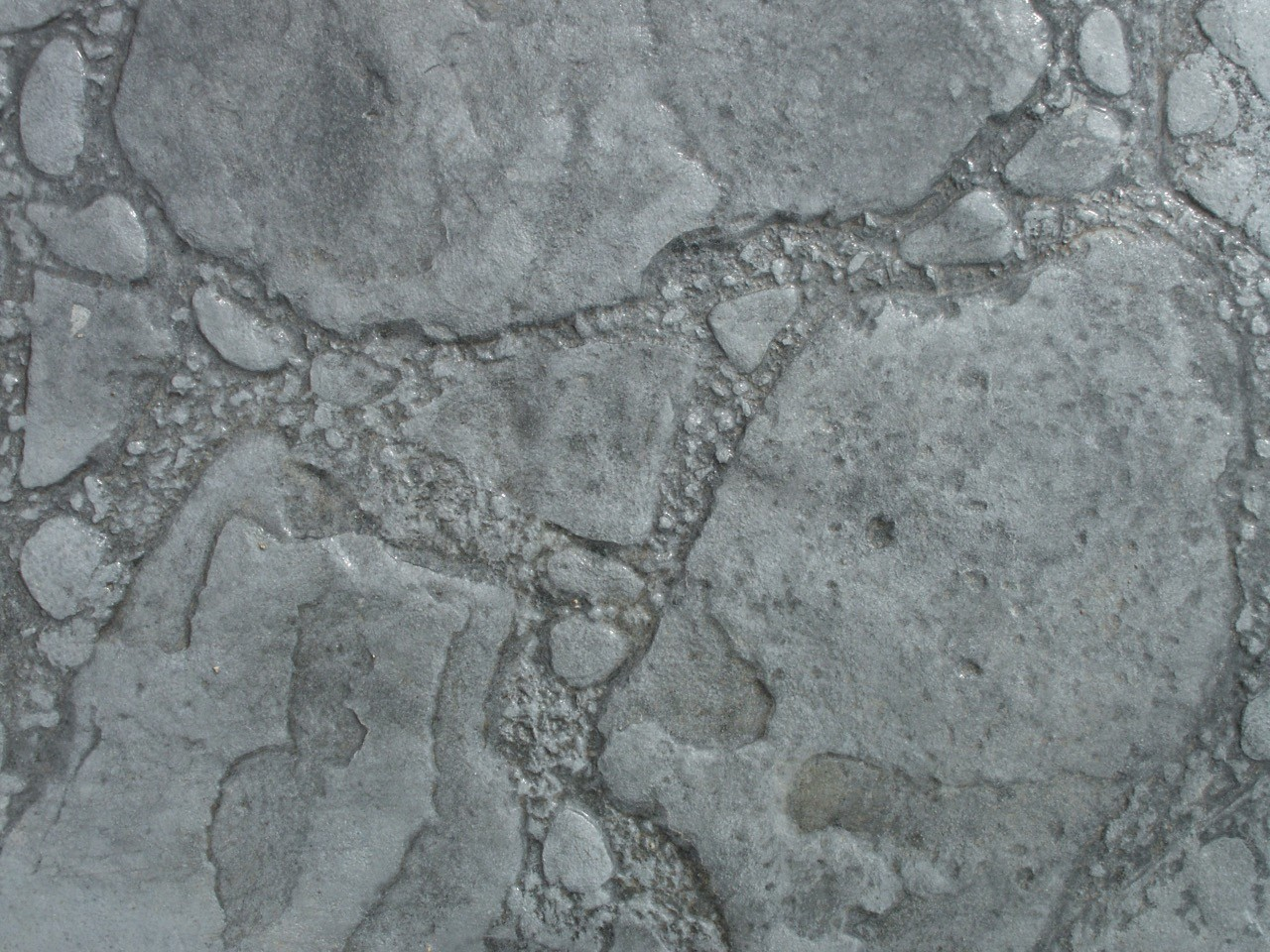 Closeup photo of a Patio Stone concrete stamp.