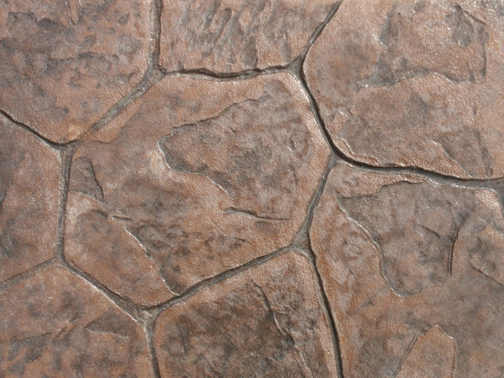 Closeup photo of a random stone concrete stamp.