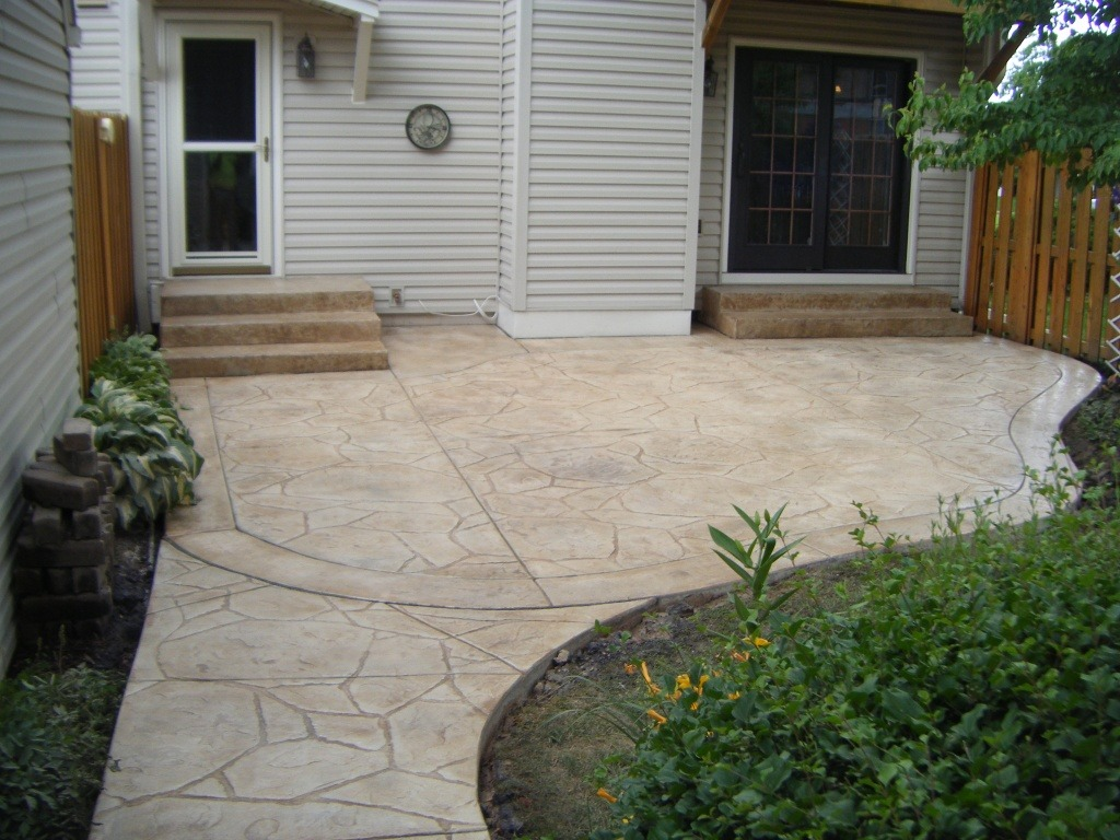 Arizona stone textured steps stamped concrete.