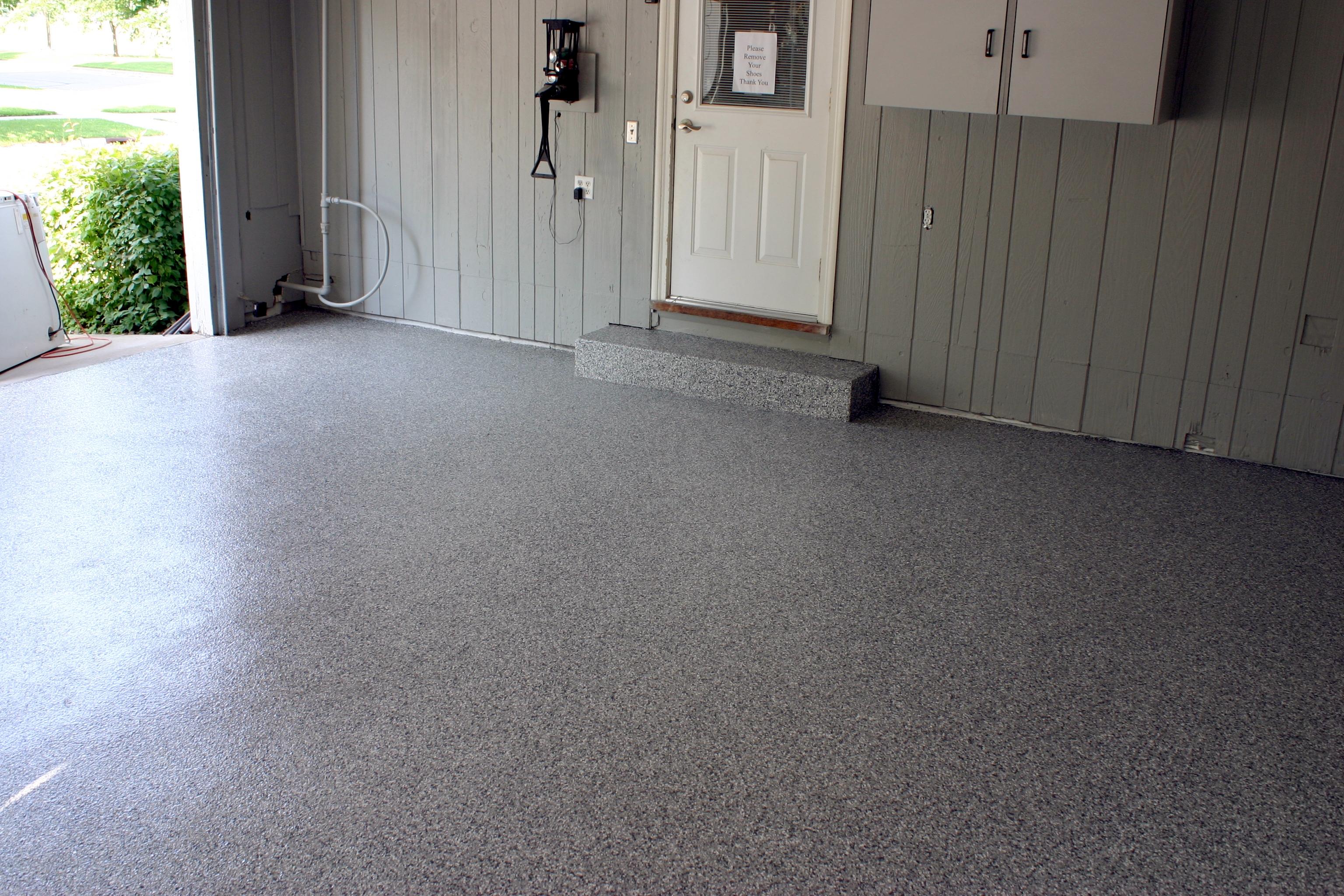 Polytek-coated garage floor